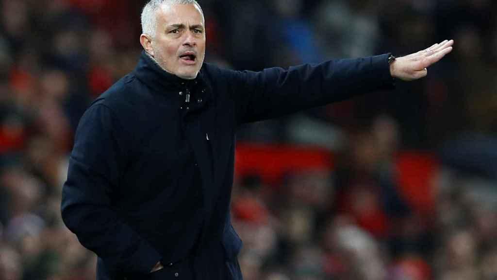 José Mourinho en un encuentro con el Manchester United