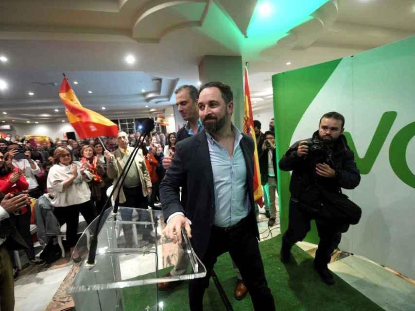 Santiago Abascal, en un mitin en Córdoba por las elecciones andaluzas.