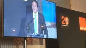 Laurent Paillasot, CEO de Orange España, durante el 20 aniversario de la compañía.