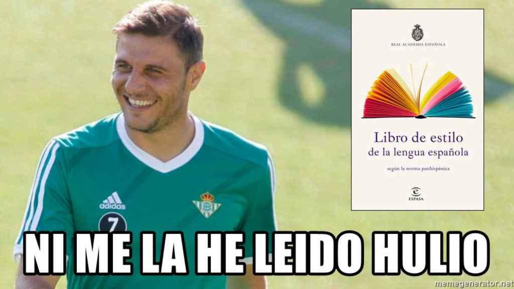 Joaquín, el jugador el Betis, popularizó la expresión 'Hulio' gracias a sus bromas con Julio Baptista.