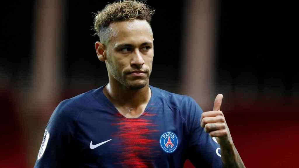 Neymar en el encuentro frente al Monaco