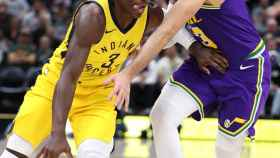 Ricky Rubio frente a Indiana Pacers