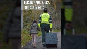 Cartel de una concentración en apoyo a la Guardia Civil en Pamplona del pasado 4 de diciembre.