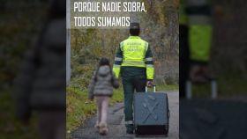 Cartel empleado en una manifestación en junio en apoyo a la Guardia Civil en Navarra.