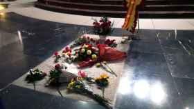 La tumba de Franco en el Valle de los Caídos.