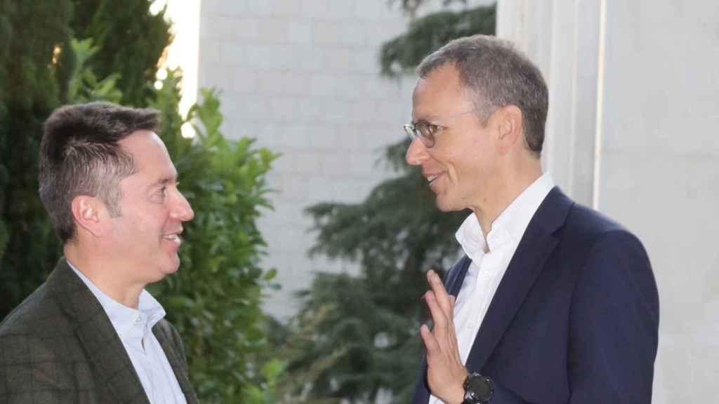 Inmanuel Bloch e Ignacio Cirac, en la Fundación Ramón Areces.