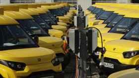 Estación de recarga de furgonetas eléctricas de DHL.