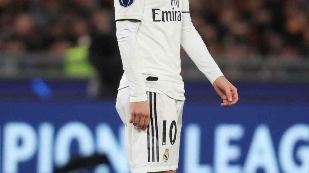 Luka Modric, durante el partido frente a la Roma