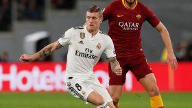 Kroos, durante el partido contra la Roma