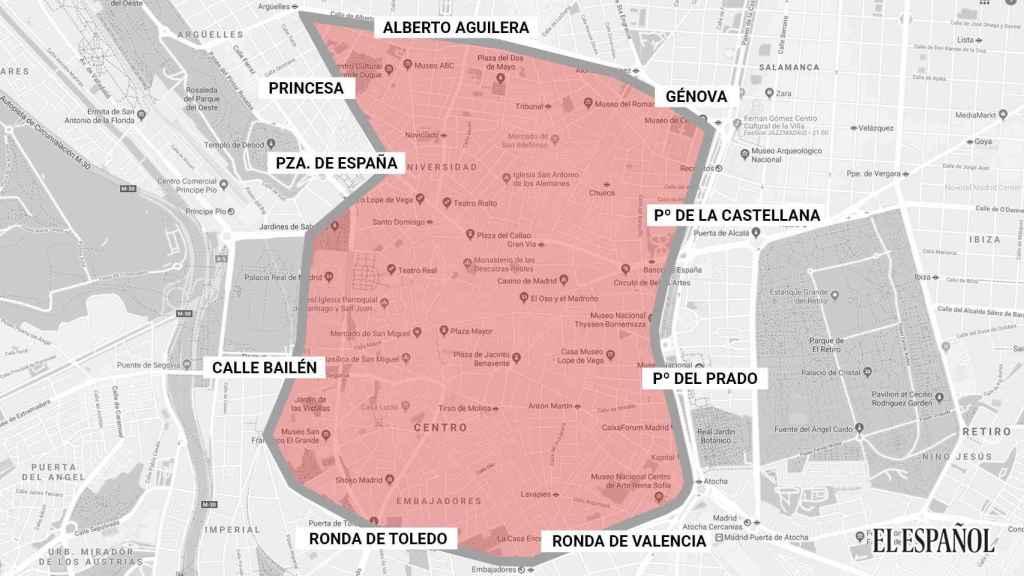 Zona que comprende Madrid Centro.