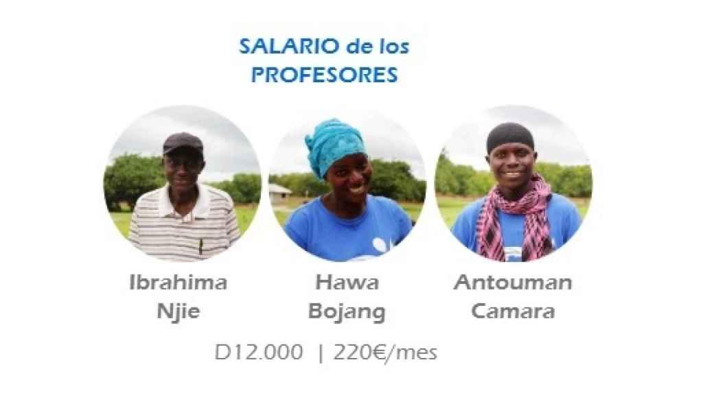 Página web de Playing Spain, detallando los salarios de sus colaboradores