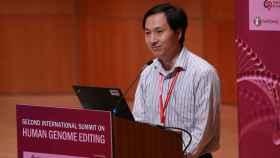 He Jiankui en su comparecencia en la Human Genome Editing Summit.