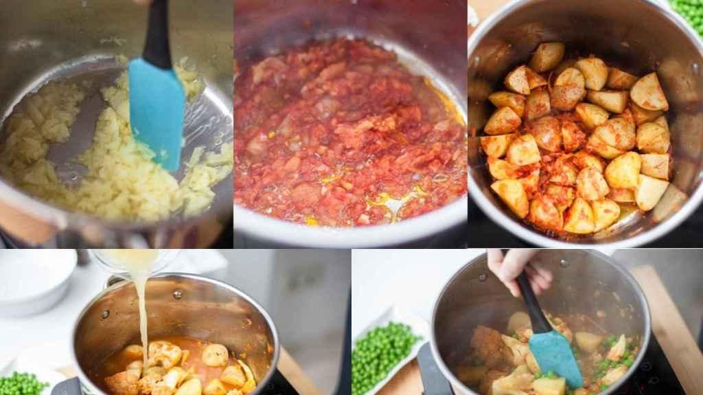 Elaboración del curry