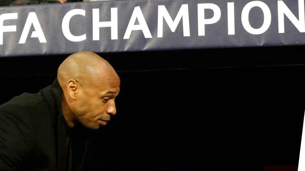 Thierry Henry, en un partido como entrenador en la Champions League