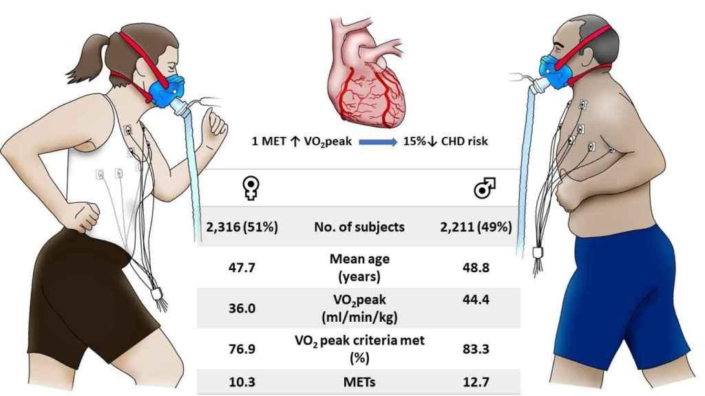 Relación entre VO2 Max y riesgo cardiovascular.