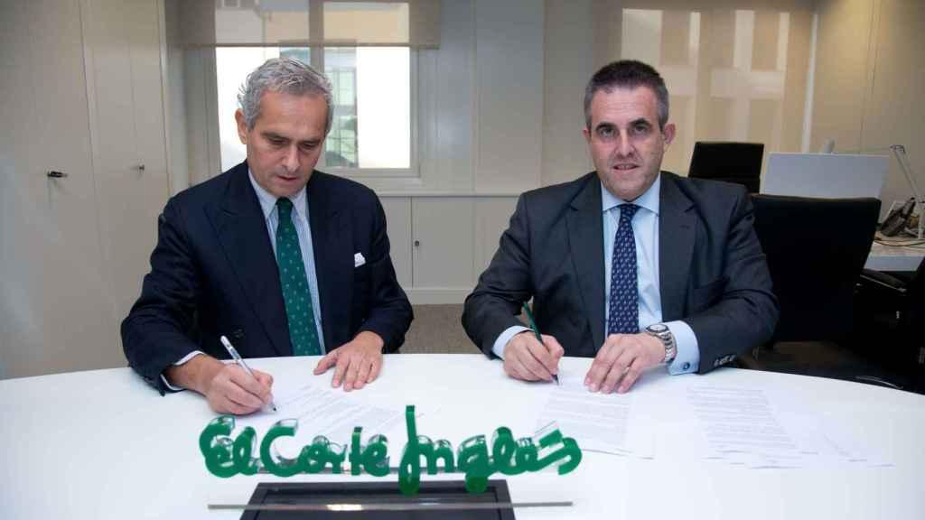 Rodrigo Cipriani, director para España, Italia, Portugal y Grecia de Alibaba y Víctor del Pozo, CEO de El Corte Inglés.