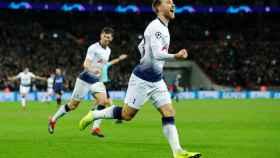 Christian Eriksen celebra un gol con el Tottenham