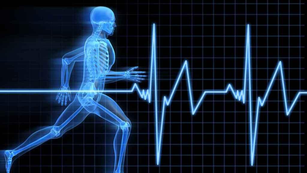 Electocardiograma de una persona que corre.