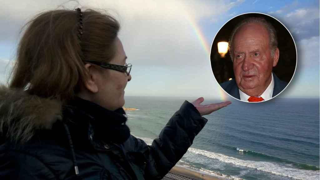 María y el rey Juan Carlos en un montaje de Jaleos.