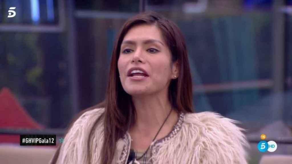 Miriam Saavedra durante su aquelarre en 'GH VIP'.