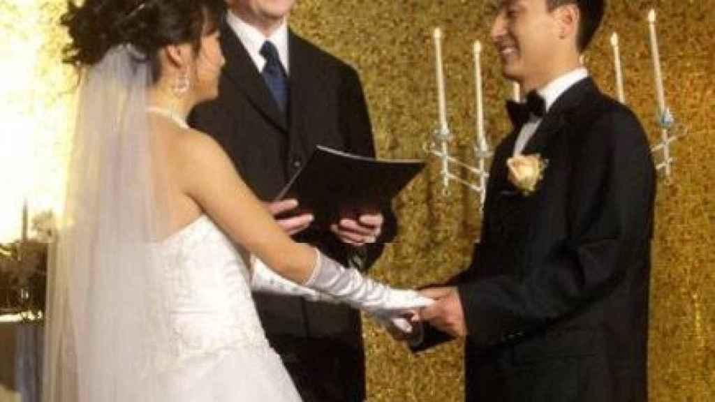 Imagen de la boda del investigador.