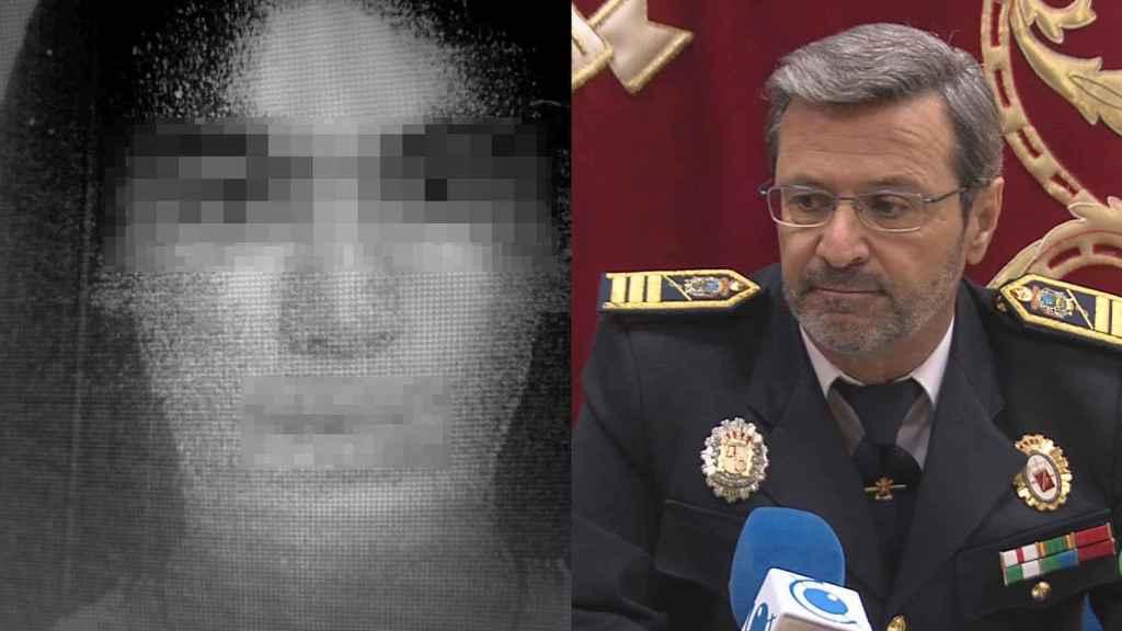 La joven prostituida en Córdoba que desató el conocido como 'caso Cyber'. A su derecha, Lorenzo Humánez, el exjefe de la Policía Local de Puente Genil absuelto.