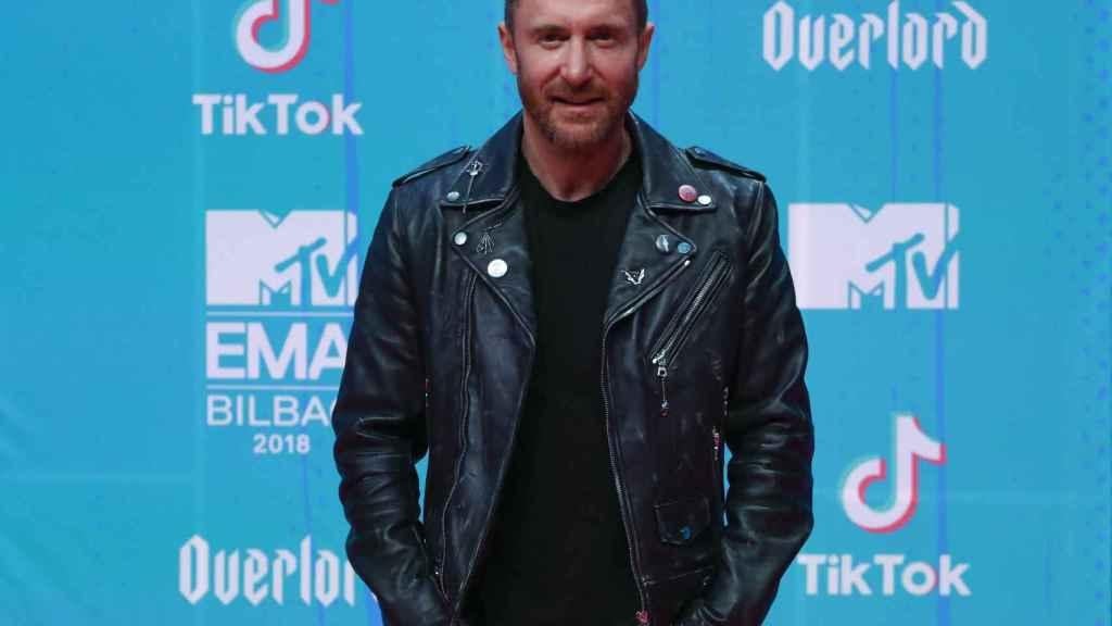 David Guetta en la gala de los MTV Awards en Bilbao.