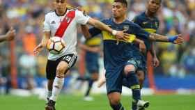 Partido de ida de la final de la Copa Libertadores entre Boca y River