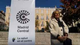 Manuela Carmena en la presentación de Madrid Central.