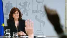Calvo, durante la comparecencia tras el Consejo de Ministros