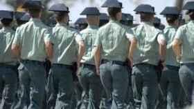 Guardias civiles en formación./