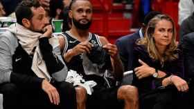 Becky Hammon, durante un partido con los Spurs