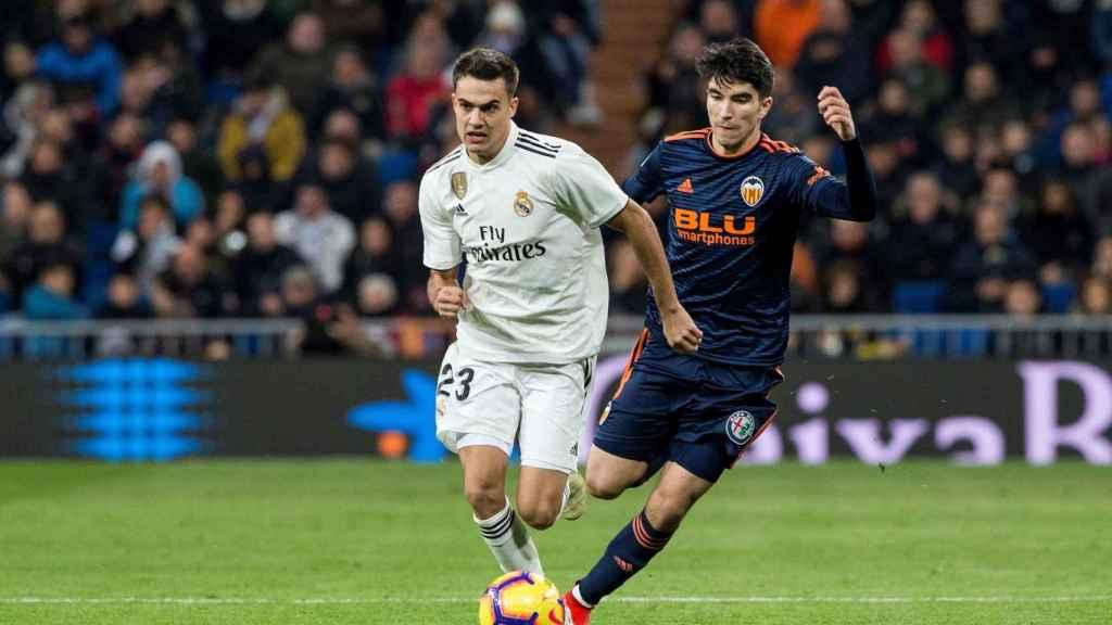 Reguilón, en el partido ante el Valencia.