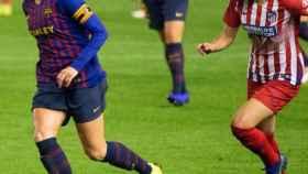 Barcelona - Atlético de Madrid, fútbol femenino. Foto: Twitter (@FCBfemeni)