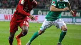 Koman, durante el Werder Bremen - Bayern Múnich