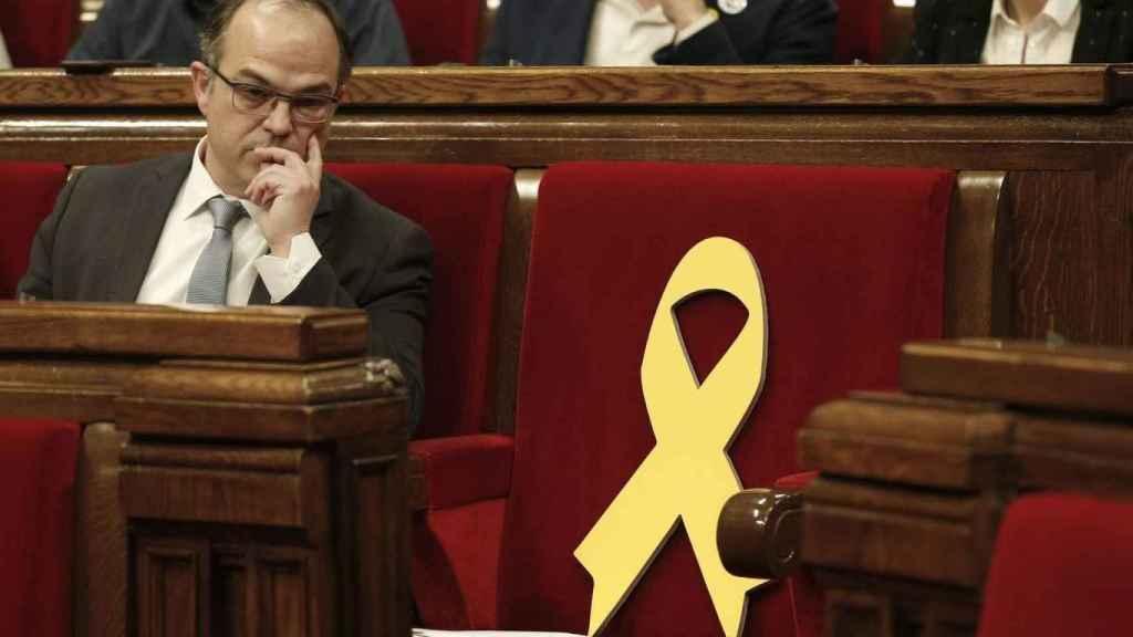 Jordi Turull, en su sesión de investidura celebrada en el Parlamento catalán.