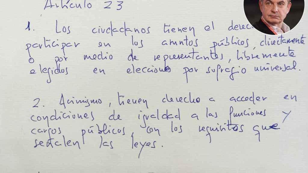 José Luis Rodríguez Zapatero, artículo 23.