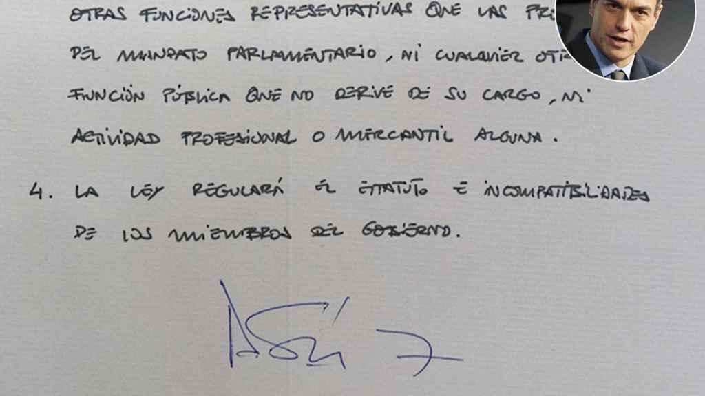Pedro Sánchez, artículo 98.
