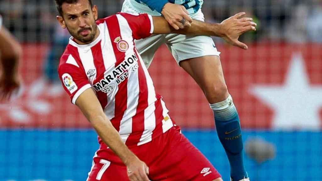 Lucas Hernández en un partido frente al Girona