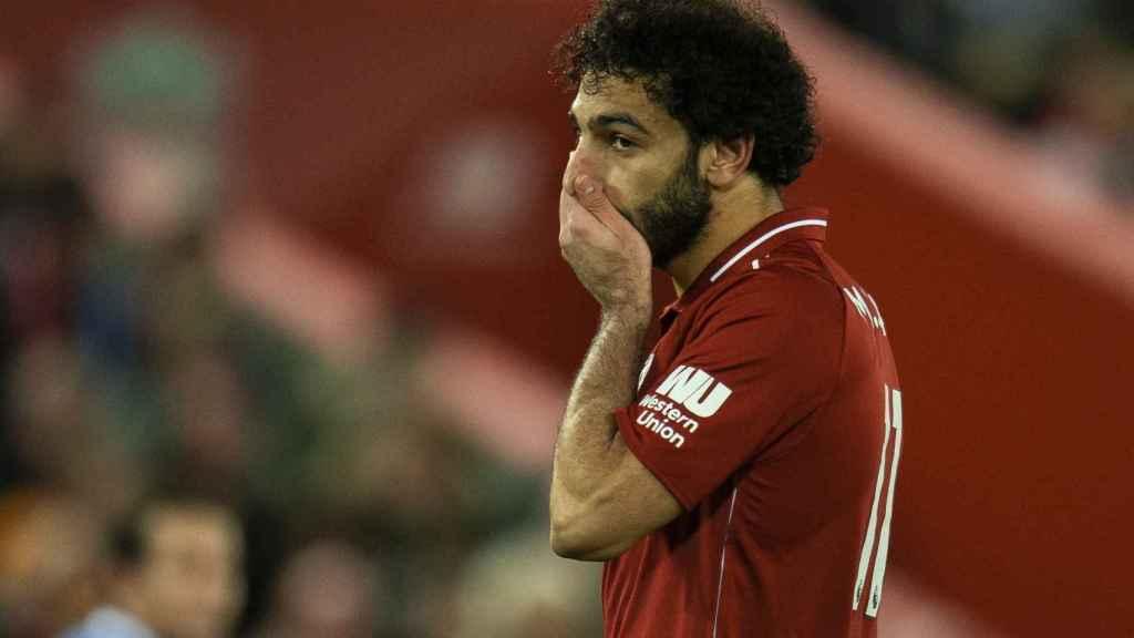 Mohamed Salah en el Liverpool - Everton