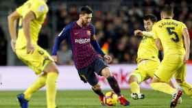 Messi, en un momento del partido de la primera vuelta