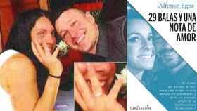 El anillo de la discordia, y al portada del libro del crimen de la Guardia Urbana de Barcelona.