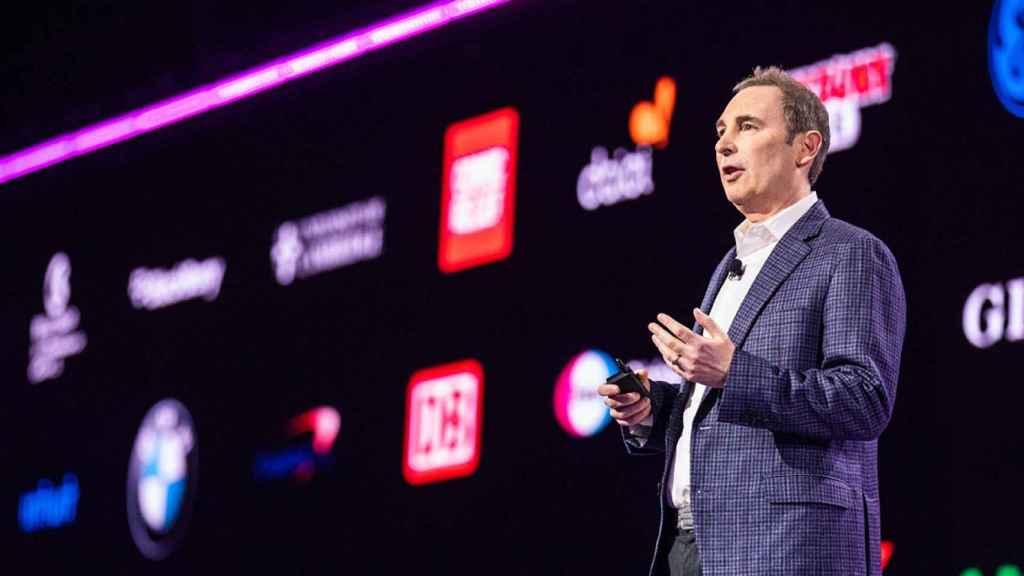 El CEO de AWS, Andy Jassy, durante su conferencia inaugural en el Reinvent, celebrado esta semana en Las Vegas.
