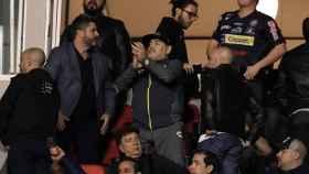 Maradona, en la final disputada este domingo ante Atlético San Luis