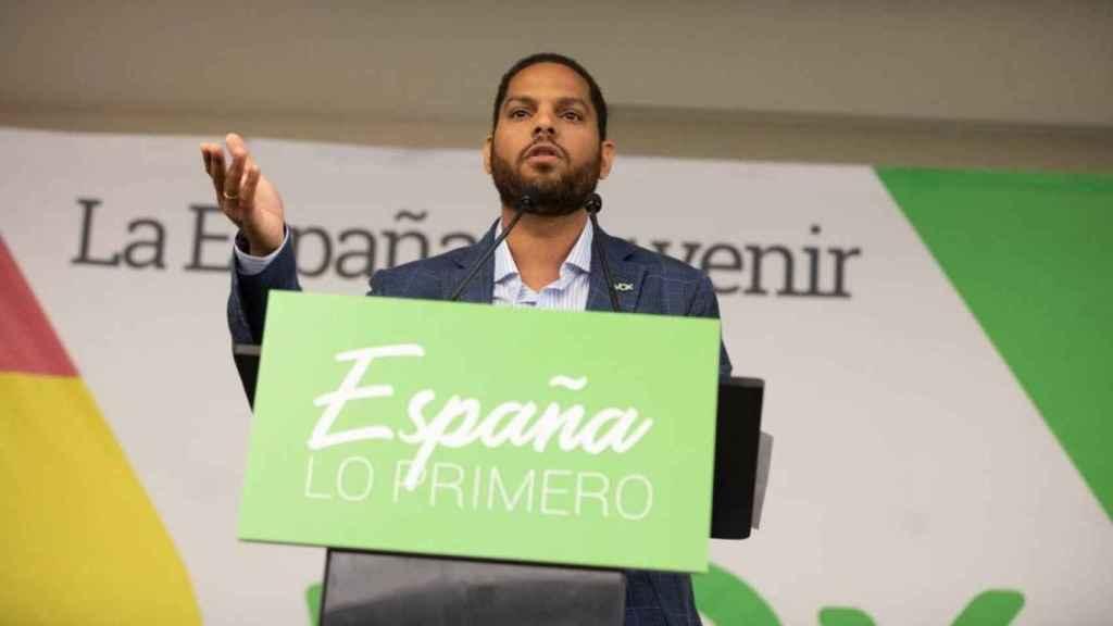 Ignacio Garriga, durante un acto de Vox.