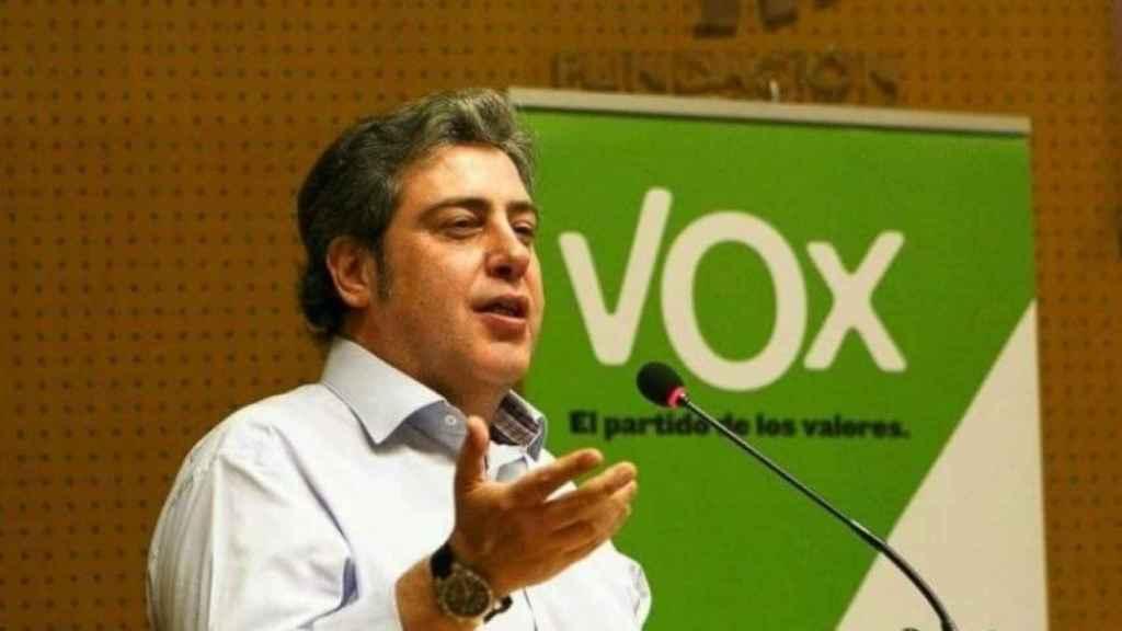 José María Llanos, en un mitin en Valencia.