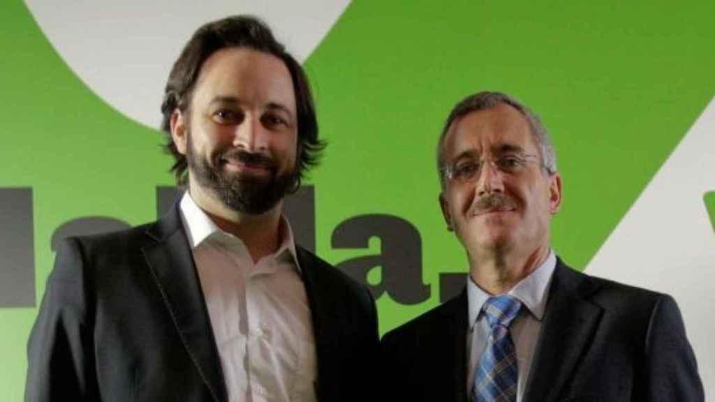 Santiago Abascal junto a Ortega Lara.