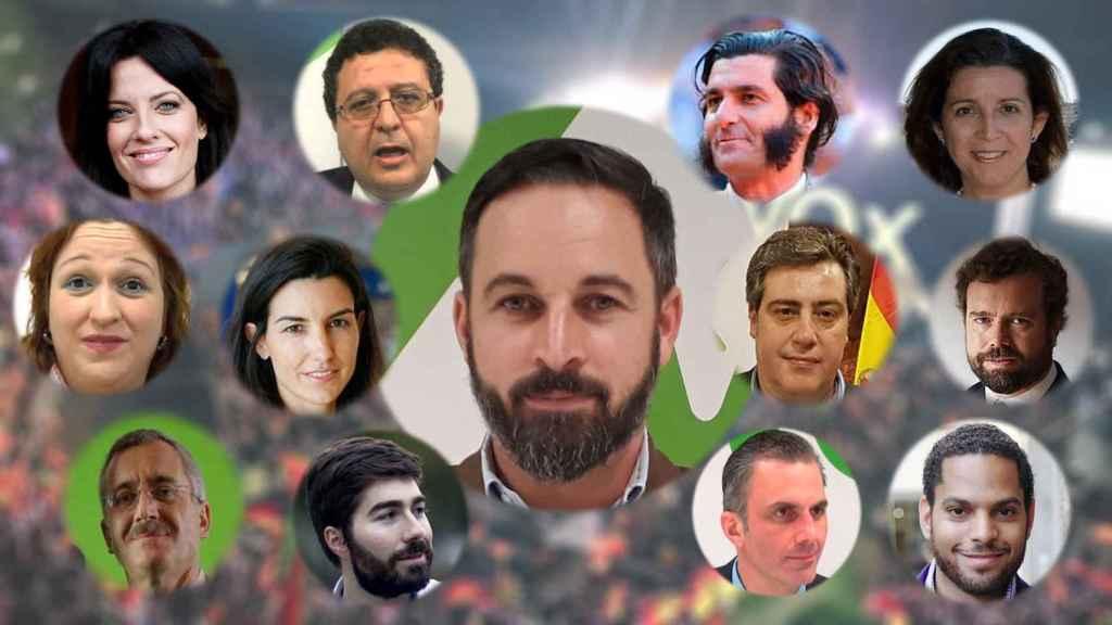 Santiago Abascal y sus 12 discípulos.