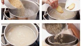 Una receta de arroz blanco.
