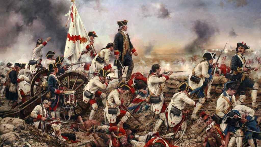 'Gálvez en América', un cuadro de Ferrer-Dalmau.